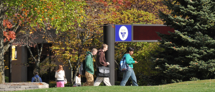 CHHS Home Page Photo - Students Walking Along the Spine