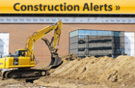 Physical Plant - Construction Alerts Leaderboard Promo