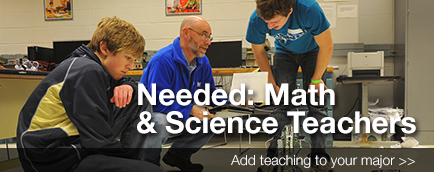 Math and Science Teachers Banner