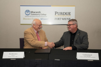 Purdue University Fort Wayne Signs Agreement with Michigan Community College to Allow Complete Transfer of Associate Degrees to Bachelor Degree Programs Image 1