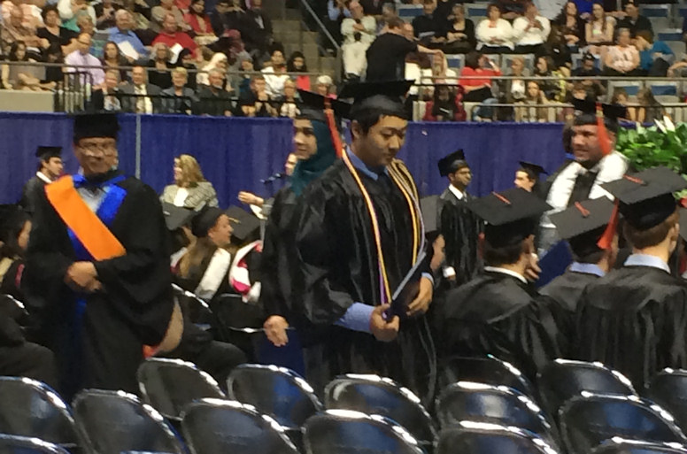 Math Majors at IPFW Commencement 2016