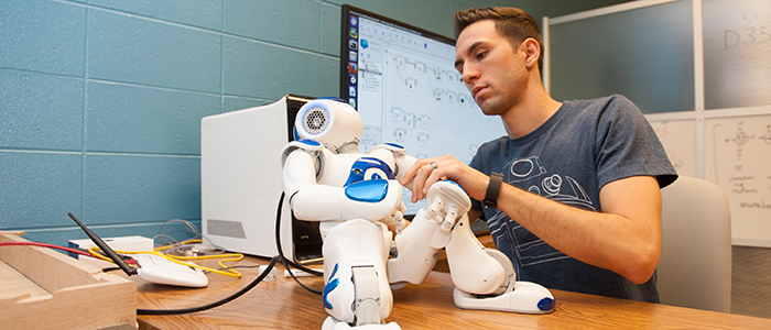 CS Student and Robot