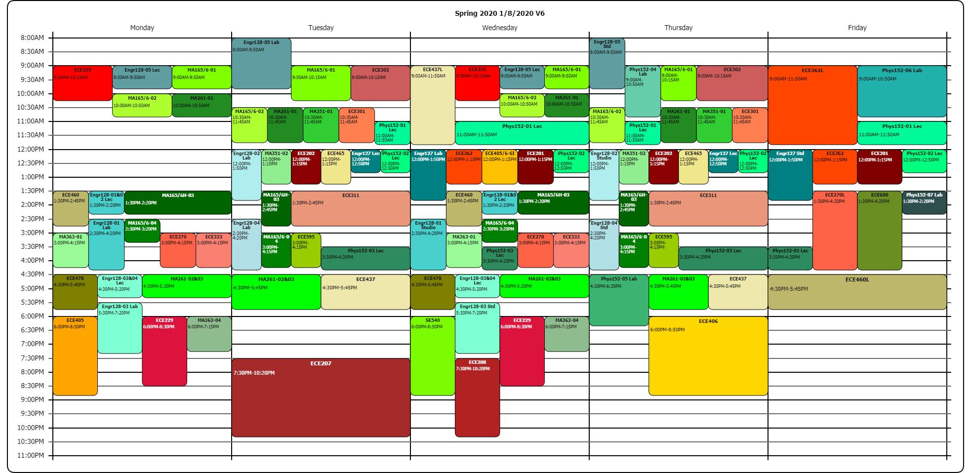 Purdue Fall 2022 Calendar.Ece Schedules Purdue University Fort Wayne