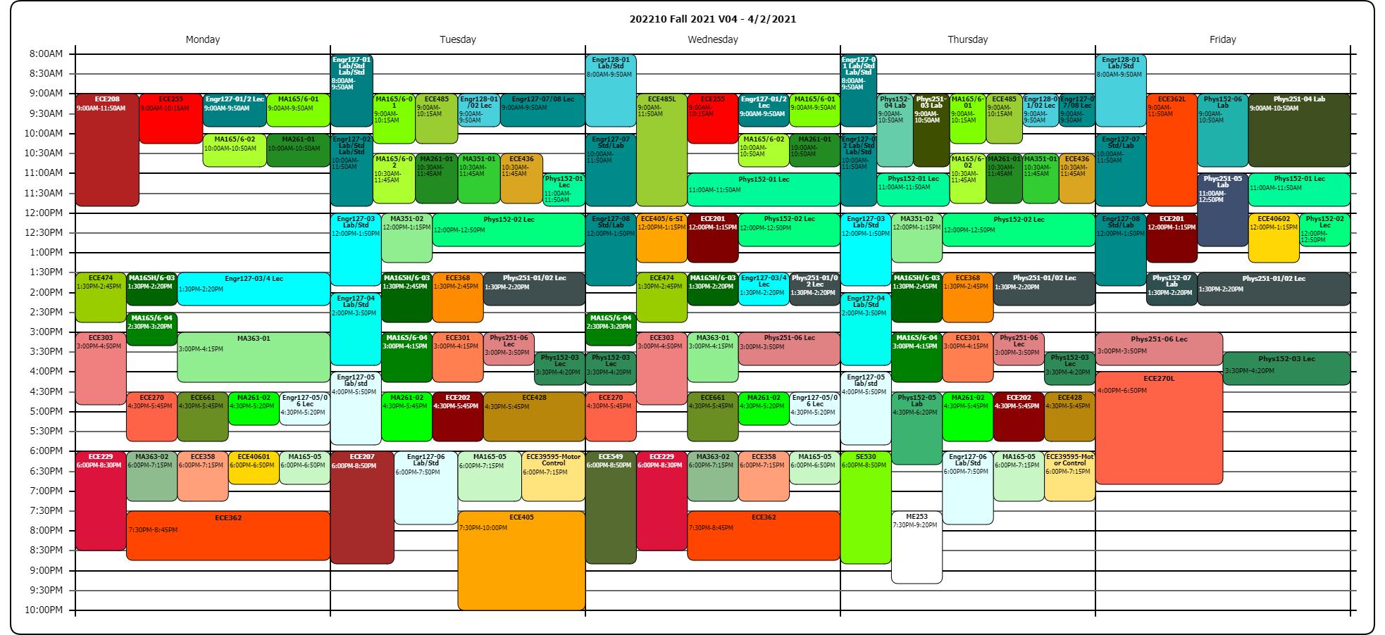 Purdue Academic Calendar 2022.Ece Schedules Purdue University Fort Wayne