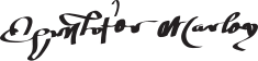 Christopher Marlowe's signature