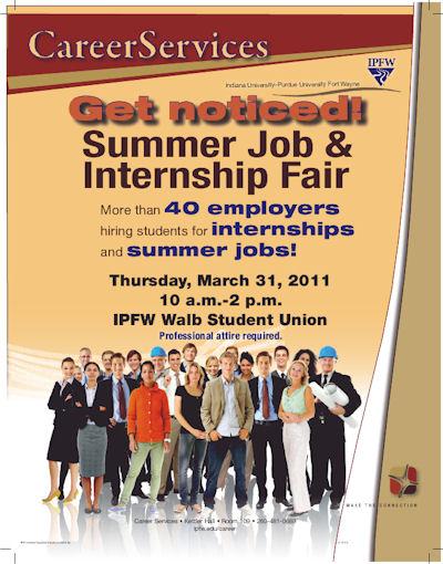 career services  summer job  u0026 internship fair