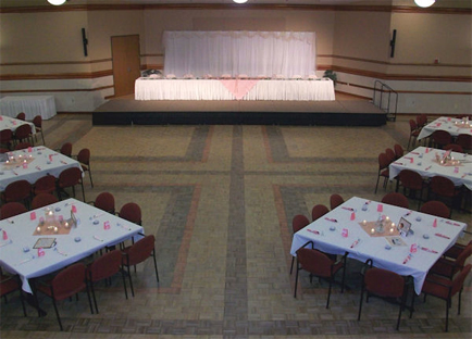 Walb Union Ballroom set for Wedding Reception