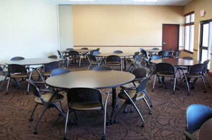 Alumni Center Meeting Room B round tables and chair