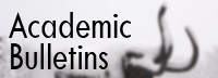 Click here to view the current & past academic bulletins.