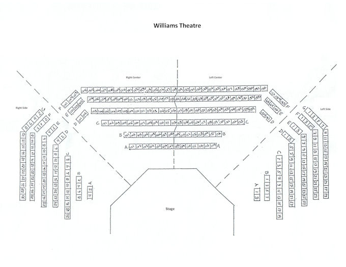 Williams Theatre Seating Chart