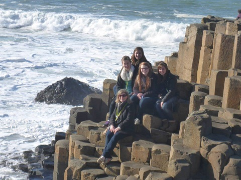 Team at Giant's Causeway