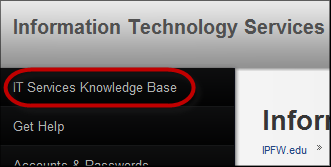 Information Technology Services adds new Knowledge Base and is accessible using a new link from their site home page.