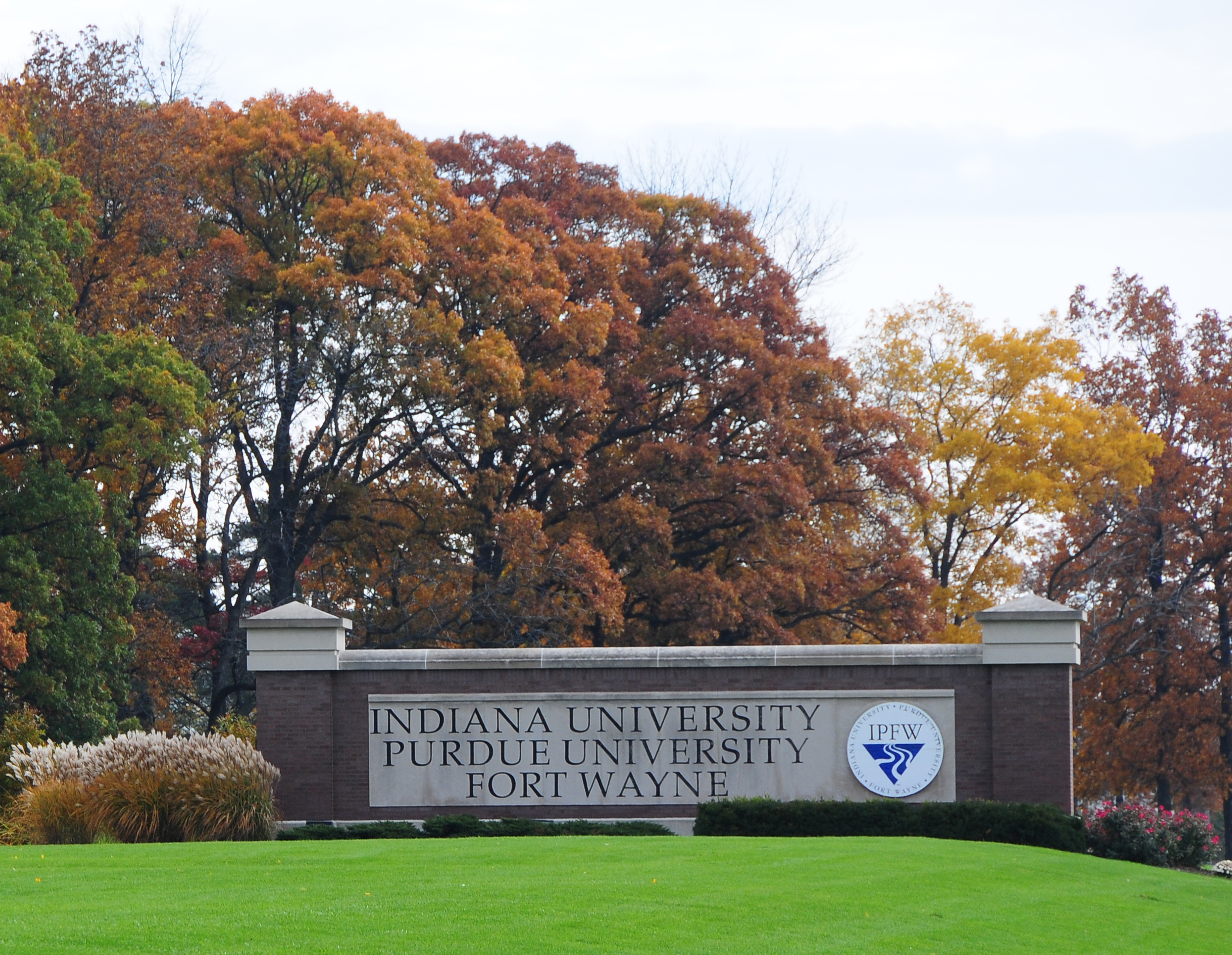 IPFW Campus in the Fall