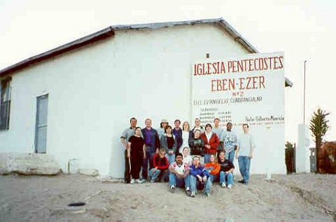 Juarez Team in front of Ebn Ezer Church