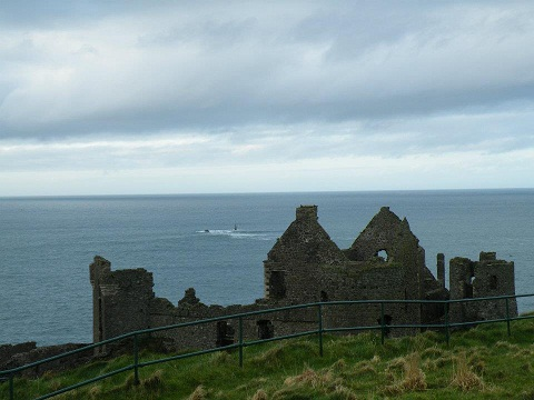 The beauty of Dunluce Castle on the Causeway Coast of Northern Ireland