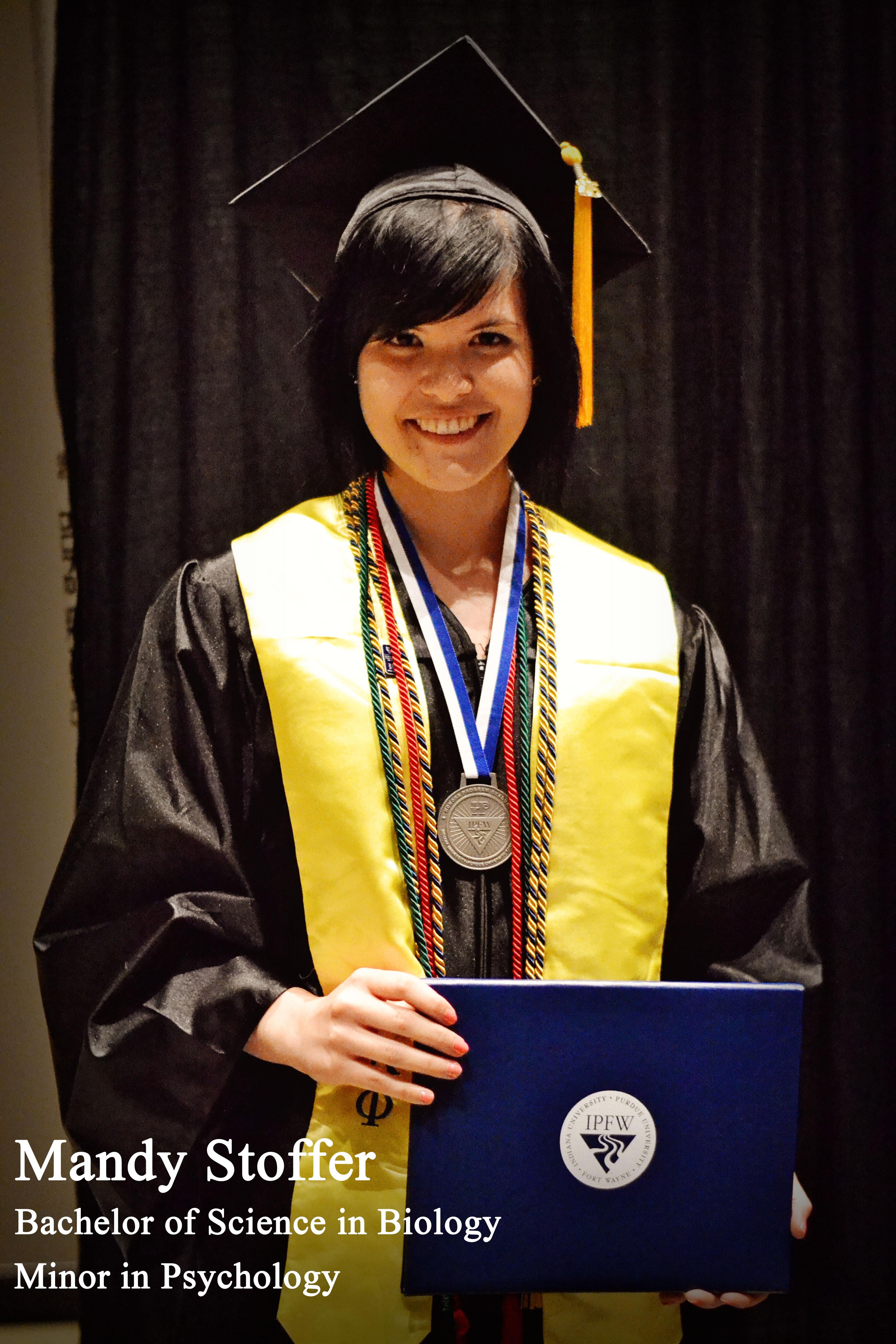 Honors Graduate Amanda Stoffer