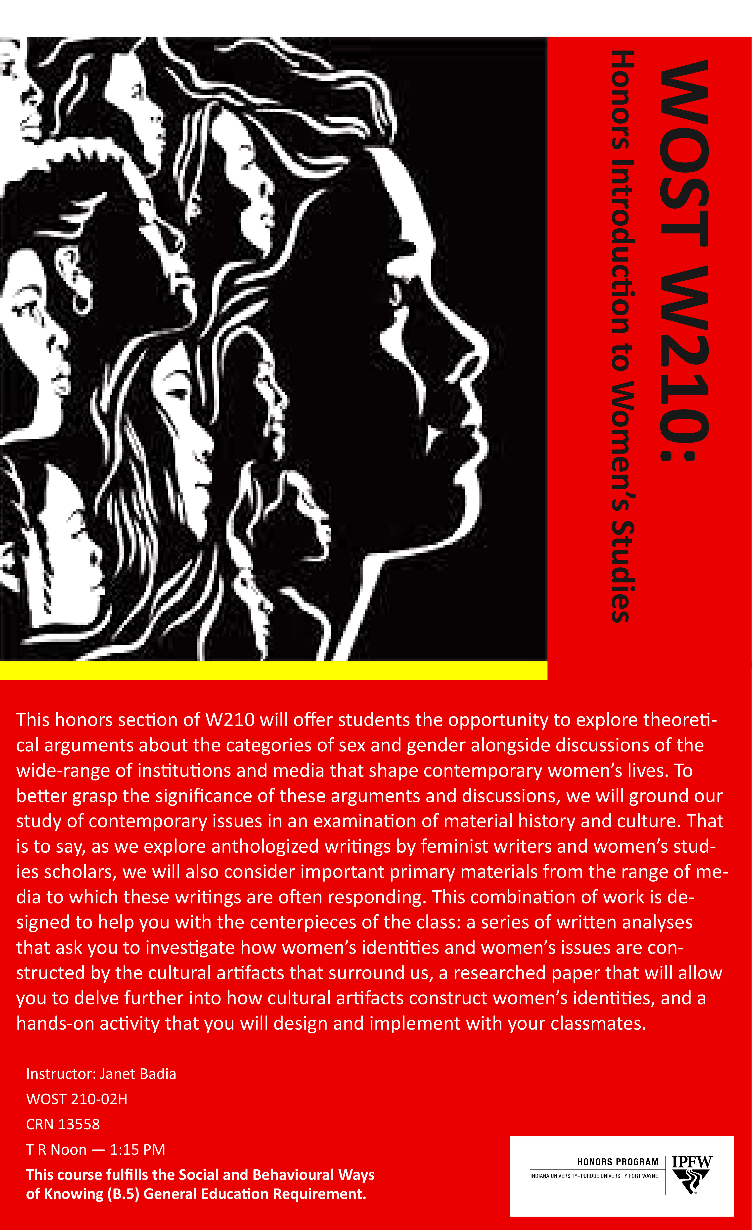 Honors Introduction to Women's and Gender Studies