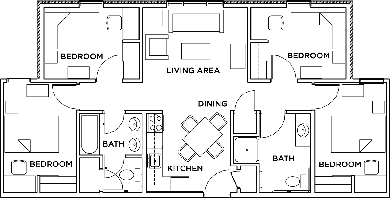 4 Bedroom 2 Bath Floor Plans | Floor Plans Purdue Fort Wayne