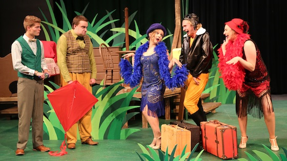 The cast of Frog and Toad perform a scene from the play.