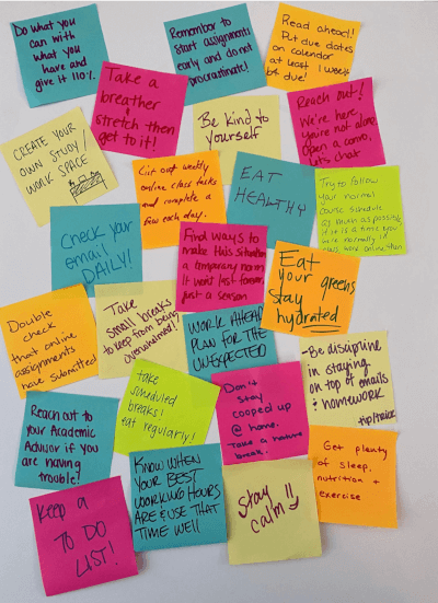 Picture of sticky notes.