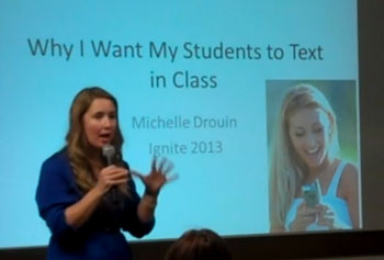 Why I want my student to text - Michelle Droulin 350px