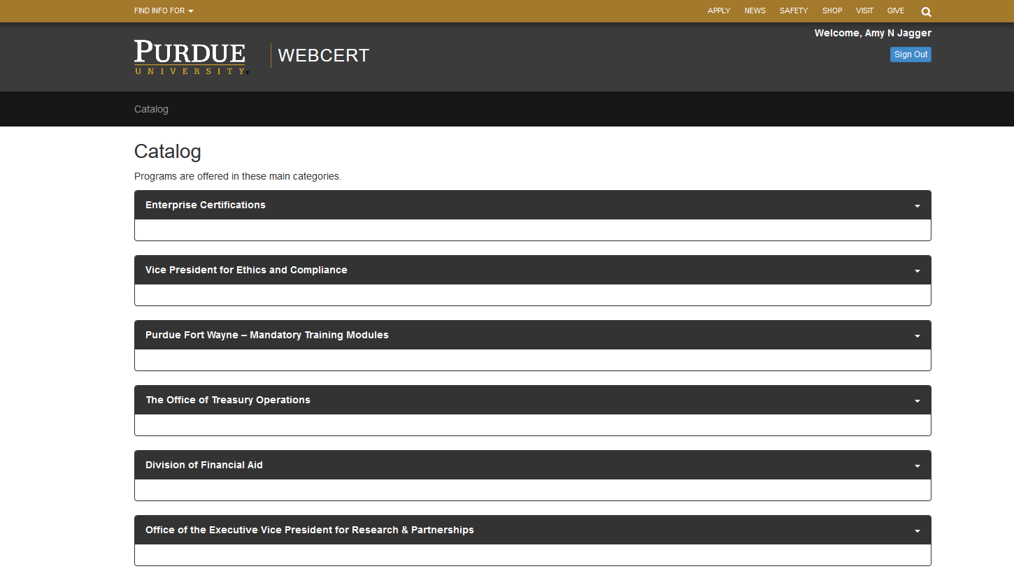 WebCert screenshot
