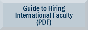 Checklist for Hiring International Faculty