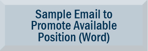 Sample Email Announcement of Open Position