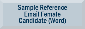 Sample Reference Email for Female Candidate