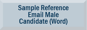 Sample Reference Email for Male Candidate